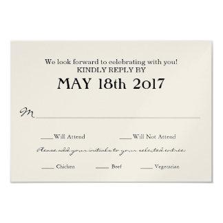 食事の選択を用いるRSVPカードを結婚するヴィンテージ カード