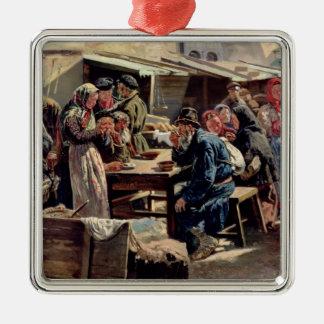 食事1875年 メタルオーナメント