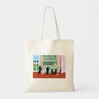 食器棚のラブラドールの子犬の絵を描くこと バッグ
