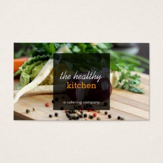 食料調達している新鮮な野菜かシェフの名刺 名刺