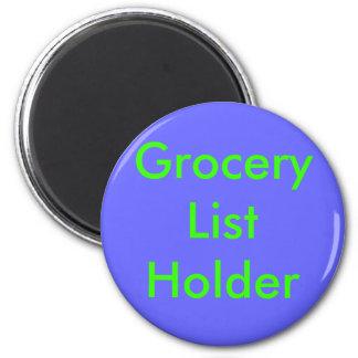 食料雑貨のリストのホールダー マグネット