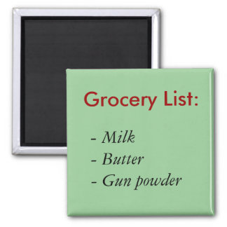 食料雑貨のリスト: 、-ミルクのバター火薬 マグネット