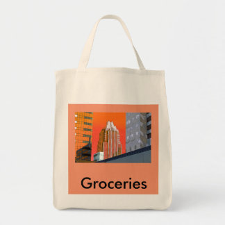 食料雑貨の戦闘状況表示板、オースティンのスタイル! トートバッグ