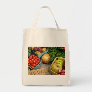 """食料雑貨の戦闘状況表示板""""紙かプラスチックか""""。 、""""いいえ言いません、 トートバッグ"""