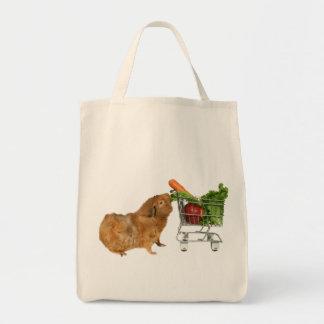 食料雑貨ショッピングのモルモット トートバッグ