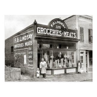 食料雑貨及び肉屋1916年 ポストカード
