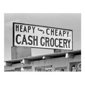 食料雑貨Sign 1939年 ポストカード