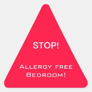 食物アレルギーのステッカー 三角形シール