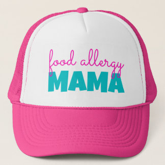 食物アレルギーのママ-トラック運転手の帽子 キャップ