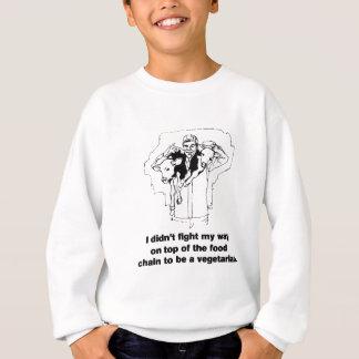 食物連鎖の上-肉食獣 スウェットシャツ