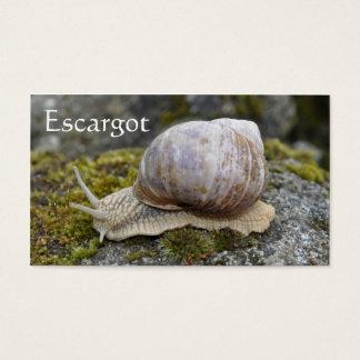 食用カタツムリの農場のescargot 名刺