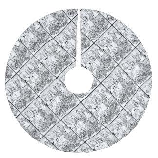 食糧およびワインフェスティバルの線画のデザイン ブラッシュドポリエステルツリースカート
