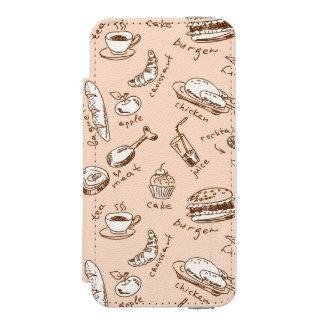食糧が付いているパターン INCIPIO WATSON™ iPhone 5 財布 ケース
