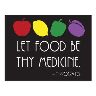 食糧が薬のヒポクラテスのThy引用文があるようにして下さい ポストカード