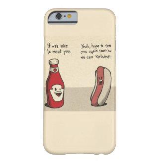 食糧しゃれ-ホットドッグかケチャップ BARELY THERE iPhone 6 ケース