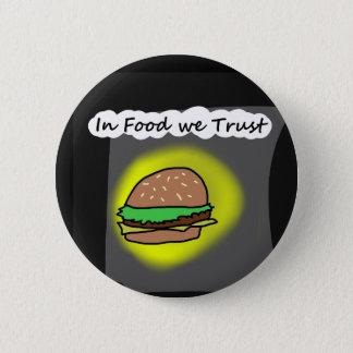 食糧で私達は信頼します 缶バッジ