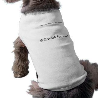 食糧のために働きます ペット服