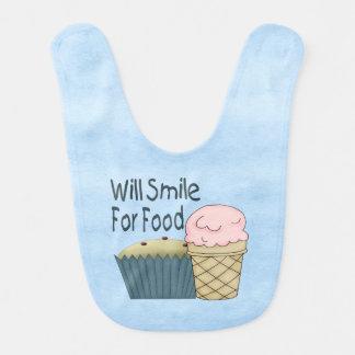 食糧のために微笑します ベビービブ