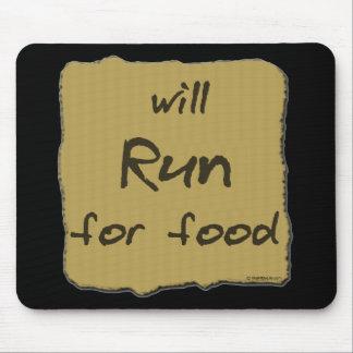 食糧のために走ります マウスパッド