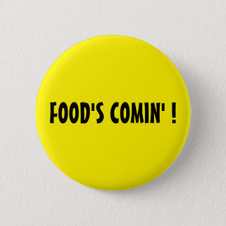 食糧のCOMIN!  円形の黄色いボタン 5.7CM 丸型バッジ