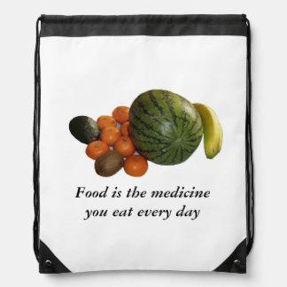 食糧はあなたが毎日食べる薬です ナップサック