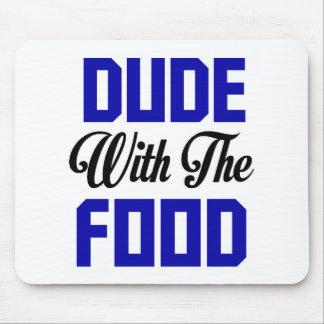 食糧を持つ男-おもしろいなデザイン マウスパッド