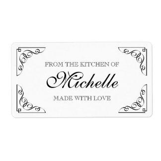 食糧ラベルの台所から愛となされる上品 発送ラベル