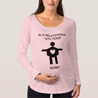 食糧人間関係の妊婦のな長袖のTシャツ マタニティTシャツ