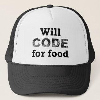 食糧帽子のためにコードします キャップ