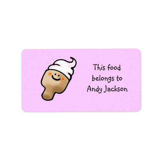 食糧所有者のラベル(アイスクリーム) 宛名ラベル