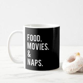 食糧映画および昼寝のプリント コーヒーマグカップ