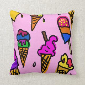 食糧甘いデザートのアイスクリームの背景のデザイン クッション