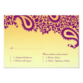 食糧選択のRSVPの結婚式の招待状 カード