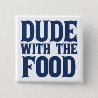 食糧青を持つ男 5.1CM 正方形バッジ