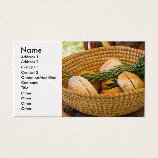 食糧-パン-ロールおよびローズマリー 名刺
