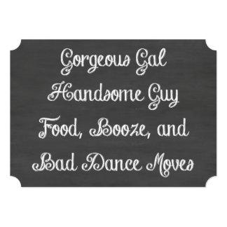 食糧、酒宴および悪いダンスは黒板を動かします カード
