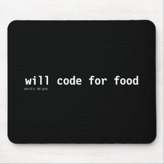 食糧mousepadのためのコード マウスパッド