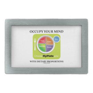食餌療法の割合MyPlateのあなたの心を占めて下さい 長方形ベルトバックル