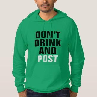 飲まないし、掲示しないで下さい パーカ