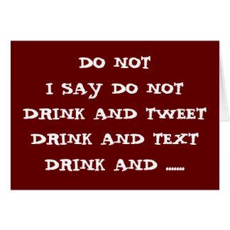 飲まないで下さい及びさえずるために、またはTEXT-BIRTHDAYのユーモア電子メールを送って下さ カード