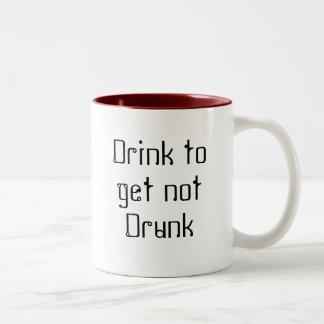 飲まれない得るために飲んで下さい ツートーンマグカップ