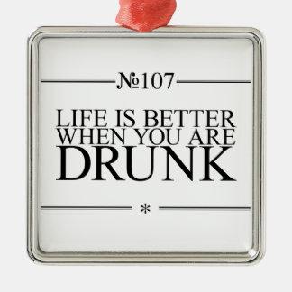 飲まれるよりよい生命 メタルオーナメント