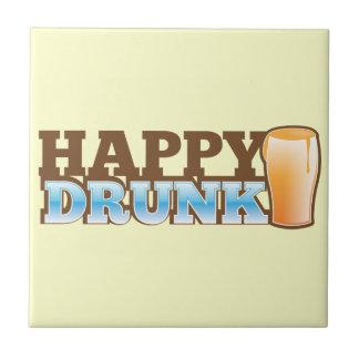 飲まれる幸せ! ビールおよび頭部とのデザイン タイル