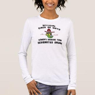 飲まれるCinco deメーヨーの女性の飲むチーム Tシャツ