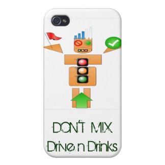 飲み物およびドライブインターネットTraffice iPhone 4/4S Case