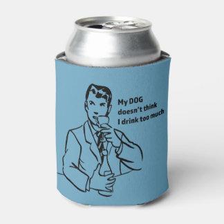 飲み物たくさんのレトロの人のクーラーボックス 缶クーラー