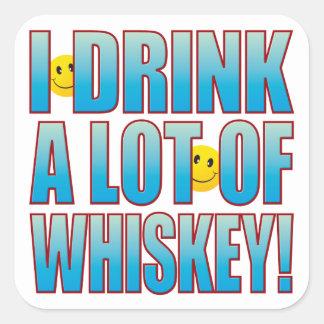 飲み物のウィスキーの生命B スクエアシール