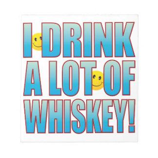 飲み物のウィスキーの生命B ノートパッド