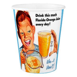 飲み物のオレンジジュースの紙コップ 紙コップ