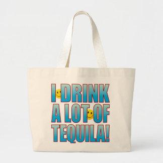 飲み物のテキーラの生命B ラージトートバッグ